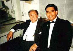 Rigo Murillo and world-renown flutist Jean-Pierre Rampal (April 19, 1998).
